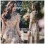Miranda Country Chic Blossom Ruffle Wrap Dress thumbnail 2
