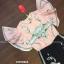 เสื้อผ้าเกาหลีพร้อมส่ง จั้มสูทขายาวสีชมพูน่ารักสดใส thumbnail 9