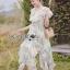 Leandra Magic Garden Ruffle Printed Chiffon Dress thumbnail 1