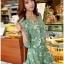 เสื้อผ้าเกาหลี พร้อมส่งเพลย์สูทสีเขียวมิ้นท์พิมพ์ลายดอกเดซี่สไตล์เฟมินีน thumbnail 2