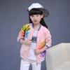 กันหนาว: เสื้อกันหนาวเด็ก สีชมพู ดอกไม้หลากสี