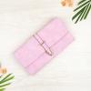 กระเป๋าสตางค์ผู้หญิง ทรงยาว รุ่น Table สีชมพูอ่อนใส่มือถือไอโฟน 6s พลัสได้ ส่งพร้อมกล่อง