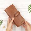 กระเป๋าสตางค์หนังแท้ทรงยาว สีน้ำตาลทราย เก็บของได้เยอะมาก เเยกชิ้นส่วนได้ ใส่มืือถือได้