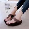 รองเท้าหูคีบบุซัพพอร์ทผ้านุ่มๆด้านใน ใส่สบายเว่อ [สีน้ำตาล ]