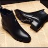 รองเท้าบูทหนังสั้น มีส้น Leather Short Boot (Size 38)