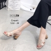 รองเท้าลำลอง ส้นสูง 2.5นิ้ว ใส่สวยมากค่ะ [สีครีม]