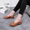 คัชชูดำ พื้นเตี้ยส้น 1.5 นิ้ว ใส่ดี ไม่ปวดเท้า [สีน้ำตาล ]