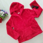 เสื้อกันหนาวขนมิ้งมีฮู๊ด ผ้าหนานุ่มอุ่นมากๆค่ะ สีแดงเข้ม