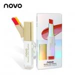 novo Double color Lipstick ลิปสติก Two Tone เนื้อครีมเนียนละเอียด ไล่ระดับโทนสี สวยสไตล์เกาหลี