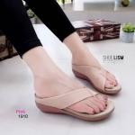 รองเท้าทรงสวม พื้น pu (#1244) [สีชมพู]