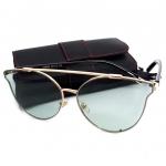 แว่นแฟชั่น ดารา กรอบสีทอง เลนส์ สีเขียว รุ่น ดารา #1