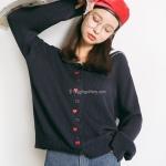 EAL เสื้อสเวตเตอร์ญี่ปุ่น รุ่นมีปก ลายหัวใจ