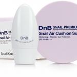 DnB SNAIL PREMIUM Snail Air Cushion Sun CC ดีเอ็นบี คุชชั่น ซีซีครีมในรูปแบบ Cushion เนื้อเนียนนุ่ม ให้สัมผัสบางเบา ไม่เหนอะหนะ ปกปิดได้อย่างดีเยี่ยม