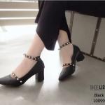 รองเท้าคัชชูหน้าเรียว [สีดำ]