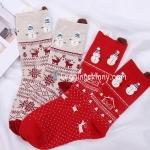 ถุงเท้าลายคริสต์มาส มี 2 สี