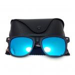 แว่นกันแดดแฟชั่น ทรง Wayfarer เลนส์สีน้ำเงิน รุ่น WOOD WF.