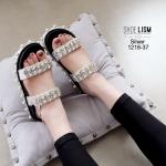 รองเท้าouble diamond งานดีออกที่สาวๆไฮโซว [สีเงิน]