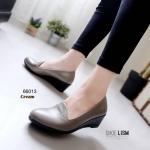 รองเท้าคัชชูด้านในบุนวมนิ่มเว่อร์(1014) [สีครีม]