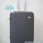 กระเป๋าเดินทาง fiber/abs ลายขีีดนอน ไซส์ 24 นิ้ว ส่งฟรี