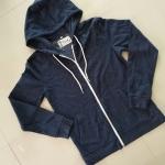 เสื้อกันหนาวผ้าสำลี มีฮู๊ดสีเทาเข้ม SIZE XxsเทียบS ค่ะ (แบรนด์ goods & apparel แท้)