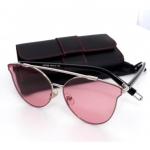 แว่นแฟชั่น ดารา กรอบสีเงิน เลนส์ สีชมพู รุ่น ดารา #1