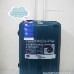 กระเป๋าเดินทาง 100%PC/ABS Flying master San3056 ขนาด 25 นิ้ว สีเขียว ส่่งฟรี