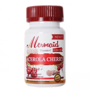 Mermaid ACEROLA CHERRY Vitamin C 39,000 mg. เมอเมด อะเซโรลา เชอร์รี่ วิตตามินซี เร่งผิวใส ไร้สิว สร้างภูมิคุ้มกัน ไม่ป่วยง่าย ช่วยในการดูดซึมคอลลาเจน