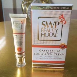 SWP Smooth Sunscreen Cream SPF50 PA+++ เอส ดับบลิว พี สมูทซันสกรีนครีม ครีมกันแดดเนื้อซิลิโคน