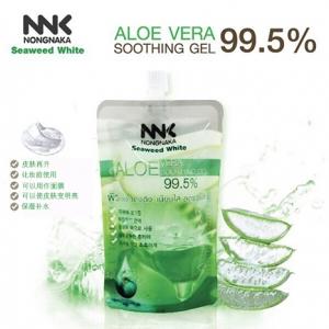 NNK NONGNAKA Seaweed White Aloe Vera Soothing Gel 99.5% น้องนะคะ เจลว่านหางจระเข้ 99.5% จากธรรมชาติ เนื้อเจลบางเบา ซึมซาบเร็ว