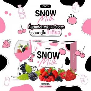 EVALY's SNOW Milk สโนว์ มิลค์ นมขาว ดื่มง่าย ทานอร่อย แค่ดื่มนม ก็ขาวได้