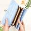กระเป๋าสตางค์ผู้หญิง ทรงยาว รุ่น Table สีฟ้า ใส่มือถือไอโฟน 6s พลัสได้ ส่งพร้อมกล่อง thumbnail 4