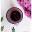 Plum Glass Vase แจกันแก้วทรงกระบอก ปากแหลม สีม่วงอมแดง thumbnail 5