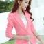 เสื้อสูทผู้หญิงสีชมพูใส่ทำงาน สไตล์เรียบหรู 5 size S/M/L/XL/XXL รหัส 1649 thumbnail 1
