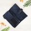 กระเป๋าสตางค์หนังแท้ ผู้ชาย ทรงยาว รุ่น GUBINTU Line Button Zip Black สีดำ thumbnail 4