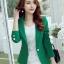 เสื้อสูทผู้หญิงสีเขียวใส่ทำงาน สไตล์เรียบหรู 5 size S/M/L/XL/XXL รหัส 1723