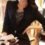 เสื้อสูทผู้หญิงสีดำใส่ทำงานเข้ารูป สไตล์เรียบหรู มี 5 ไซส์ S/M/L/XL/2XLรหัส 1810 thumbnail 1