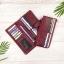 กระเป๋าสตางค์หนังแท้ทรงยาว สีแดงเลือดนก เก็บของได้เยอะมาก เเยกชิ้นส่วนได้ ใส่มืือถือได้ thumbnail 13