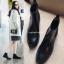 รองเท้าบูทหนังสั้น ส้นเตี้ย Leather Short Boot (Size 36-40)