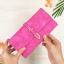 กระเป๋าสตางค์ผู้หญิง ทรงยาว รุ่น Table สีชมพูเข้ม ใส่มือถือไอโฟน 6s พลัสได้ ส่งพร้อมกล่อง thumbnail 3