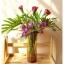 Glass Vase แจกันแก้วทรงกระบอก สีชา thumbnail 1