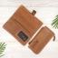 กระเป๋าสตางค์หนังแท้ทรงยาว สีน้ำตาลทราย เก็บของได้เยอะมาก เเยกชิ้นส่วนได้ ใส่มืือถือได้ thumbnail 4