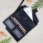 กระเป๋าสตางค์ผู้ชาย กระเป๋าสตางค์หนัง YATEBAO ทรงยาว สีดำ thumbnail 3
