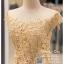 รหัส ชุดราตรี : PFL082 ชุดราตรียาว สีทอง ไหล่ปาด ชุดราตรีสวยๆ ชุดไทยประยุกต์ ประดับลูกไม้สวยหวานด้านบน ด้านล่างเป็นผ้าไหม ใส่ไปงานแต่งงาน งานเลี้ยง งานรับรางวัล งานกาล่าดินเนอร์ งานพรอม งานบายเนียร์ ชุดพิธีกร ชุดเพื่อนเจ้าสาว ผ้าไหม thumbnail 3