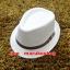 หมวกปานามา หมวกสาน หมวกปานามาสีครีมปีกสั้น คาดเข็มขัดน้ำตาล ปีกกว้าง 3.5 cm รอบศรีษะ 57-58cm. thumbnail 1