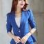 เสื้อสูทผู้หญิงสีนำเงินเอวระบาย ใส่ทำงาน สไตล์เรียบหรู 5 size S/M/L/XL/XXL รหัส 1724 thumbnail 1