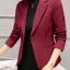 เสื้อสูทผู้หญิงแฟชั่นสีไวน์แดงใส่ทำงาน สไตล์เรียบหรู 5 size S/M/L/XL/XXL รหัส 1695 thumbnail 1