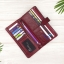 กระเป๋าสตางค์หนังแท้ทรงยาว สีแดงเลือดนก เก็บของได้เยอะมาก เเยกชิ้นส่วนได้ ใส่มืือถือได้ thumbnail 11