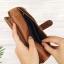 กระเป๋าสตางค์หนังแท้ทรงยาว สีน้ำตาลทราย เก็บของได้เยอะมาก เเยกชิ้นส่วนได้ ใส่มืือถือได้ thumbnail 12