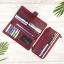 กระเป๋าสตางค์หนังแท้ทรงยาว สีแดงเลือดนก เก็บของได้เยอะมาก เเยกชิ้นส่วนได้ ใส่มืือถือได้ thumbnail 15