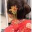 รหัส ปิ่นปักผมจีน : TR060 ขาย ปิ่นปักผมจีน พร้อมส่ง สีทอง เครื่องประดับผมจีน แบบโบราณ เหมาะมากสำหรับใส่ในพิธียกน้ำชา และงานแต่งงานธรรมเนียมจีน พิธีเสียบปิ่น คุณแม่เจ้าสาวจะติดปิ่นทองและทับทิมให้เจ้าสาว แทนคำอวยพร thumbnail 1